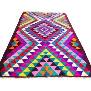 "Turkish Anatolian Kilim Rug - 9'6"" x 6'"