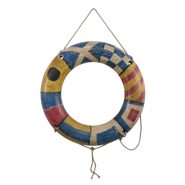 Nautical Pair of Life-Savers For Sale - Image 3 of 6