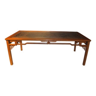 Early 20th Century Antique Chinese Carved Dining Table For Sale