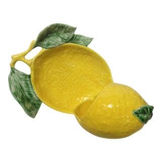 1960s Lemon Figural Ashtray Set - a Pair For Sale