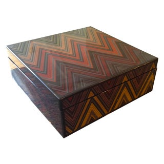 Missoni Lacquer Box - Chevron For Sale