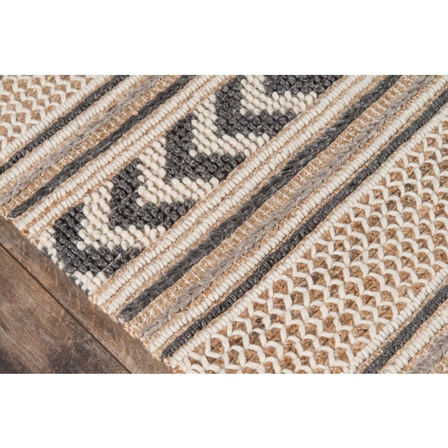 Esme Charcoal Hand Woven Area Rug 2' X 3' For Sale - Image 4 of 8