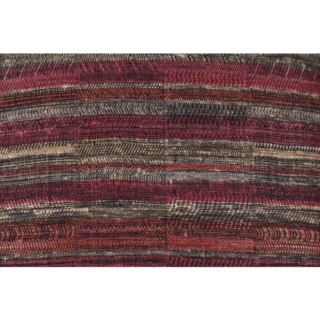 Indian Handwoven Pillow in Sunset Stripes For Sale - Image 4 of 6
