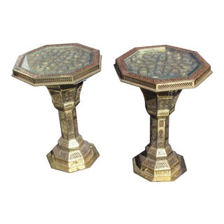 "Islamic 'Hexagon"" End Tables - a Pair For Sale"