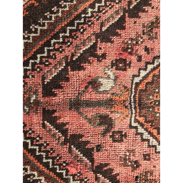 "Vintage Persian Shiraz Runner - 3'7"" x 9'9"" - Image 4 of 10"