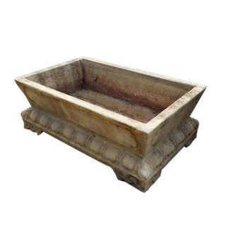 Hand Carved Marble Trough For Sale