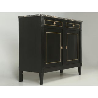 Antique French Louis XVI Style Buffet in an Ebonized Finish Preview