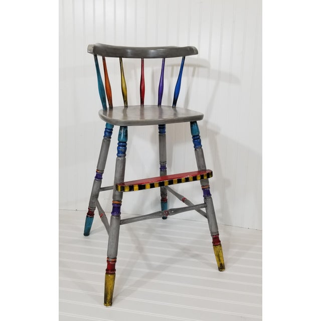 Vintage Hand Painted Highchair - Image 2 of 11