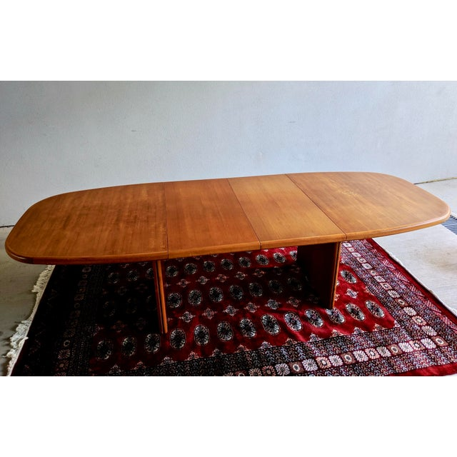 "Bent Silberg Mobler 1970s Danish Modern 110"" Teak Dining Table For Sale - Image 4 of 13"