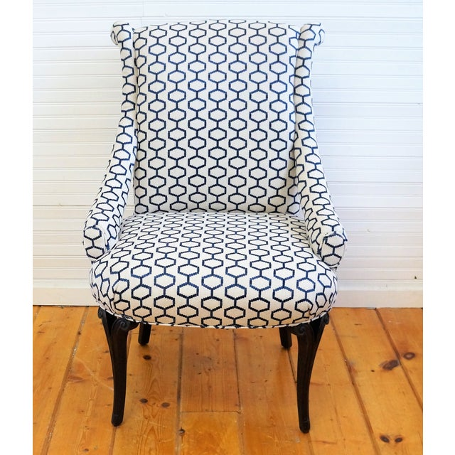 Unusual Accent Chairs Pattern.Early 20th Century Vintage Accent Chair