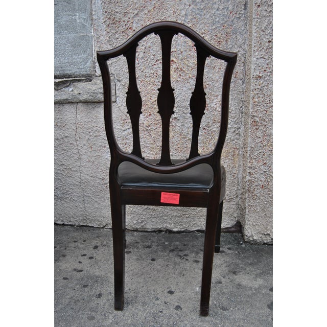 Mahogany English Hepplewhite Style Chairs- Set of 12 For Sale - Image 11 of 13
