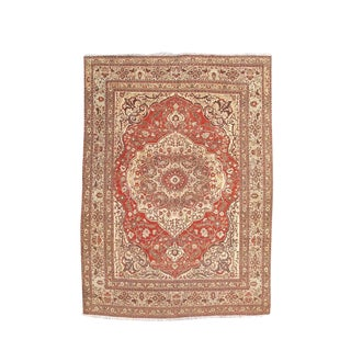 Classic Medallion Tabriz Carpet For Sale