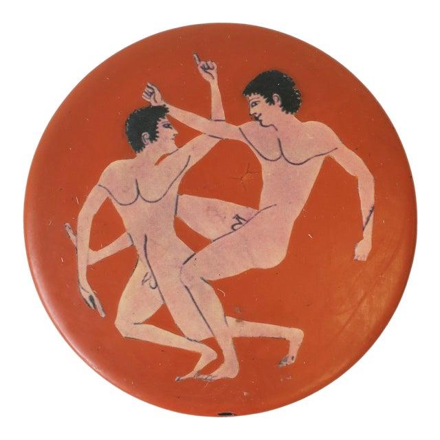 Jewelry Box With Greco-Roman Nude Male Figurative Design For Sale