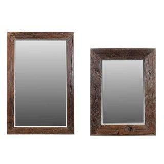 Contemporary Malcom Sleeper Wooden Wall Mirror - Set of 2