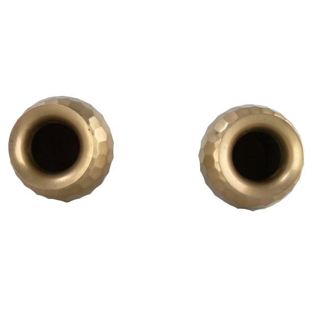 Decorative Brass Vases - Pair - Image 6 of 7