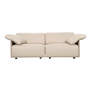 "Lievore Altherr Molina for Poltrona Frau ""Cassiopea"" Leather Sofa For Sale"