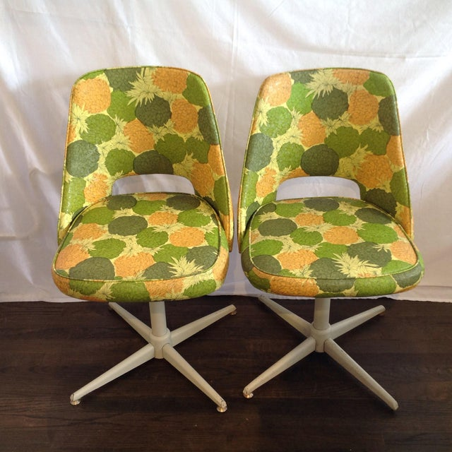 Mid-Century Modern Swivel Chairs- A Pair - Image 2 of 5