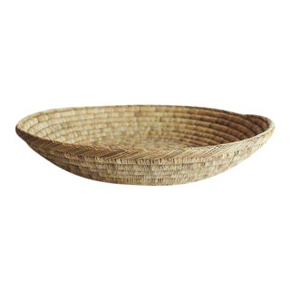 Handwoven Shallow Basket