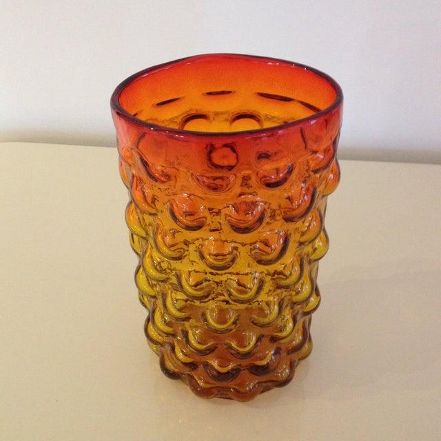 Blenko Blenko Husted Bubble Vase For Sale - Image 4 of 5