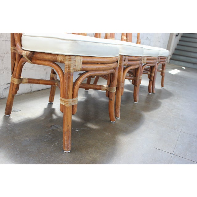 Vintage Rattan Dining Chairs - Set of 4 - Image 5 of 10