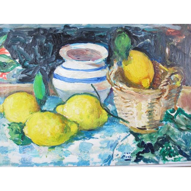 Italian Vintage Mid-Century Mario Bucci Italian Modernist Still Life Painting For Sale - Image 3 of 7