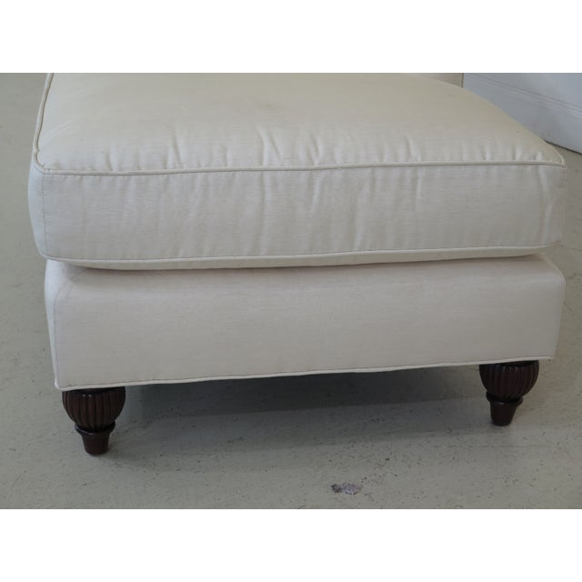 2010s Baker Off-White Upholstered Chaise Lounge For Sale - Image 5 of 11