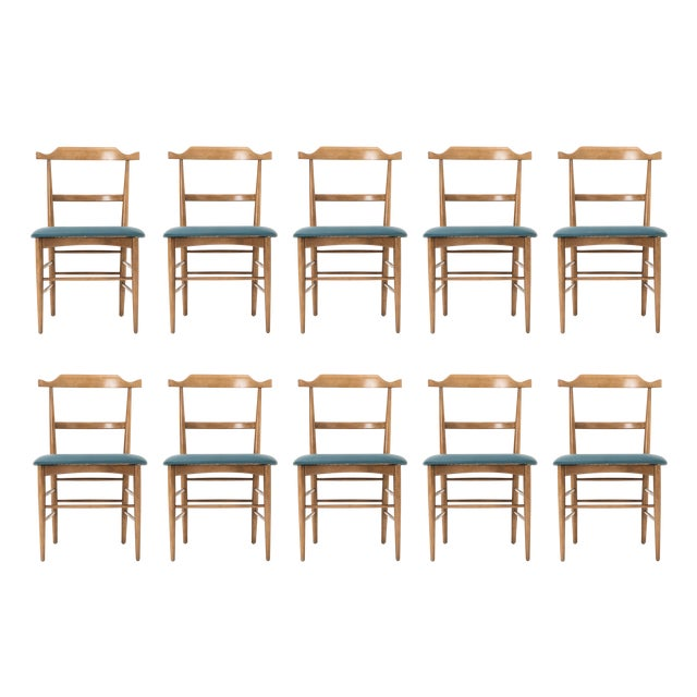 Set of Ten Milo Baughman Dining Chairs For Sale