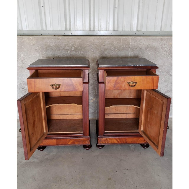 19th Century French Crotch & Burl Mahogany Confiture Cabin For Sale In Dallas - Image 6 of 12