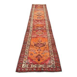 Oversized Vintage Hand Knotted Anatolian Runner For Sale