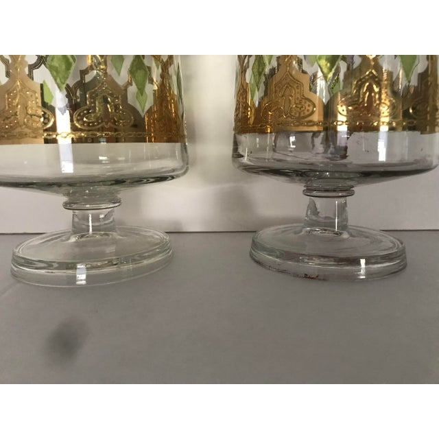"""Hollywood Regency Culver """"Valencia"""" Gilt Footed Containers - Pair For Sale - Image 3 of 10"""