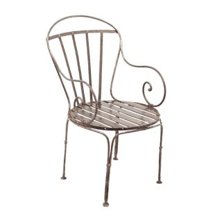 Early 19th Century Antique French Polished Steel Chair For Sale