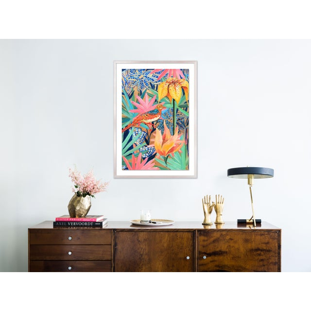 Contemporary Zanzabar Collage 2 by Lulu DK in White Wash Framed Paper, Medium Art Print For Sale - Image 3 of 4