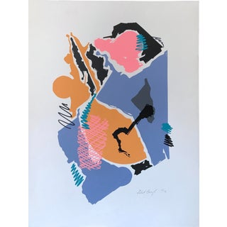 1980s Silkscreen Neon Abstract For Sale