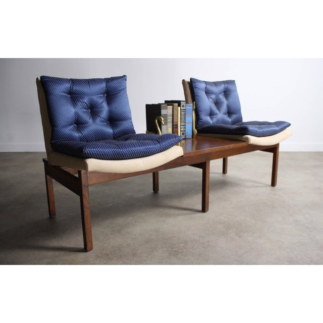Arthur Umanoff Modular Walnut Bench Seating for Madison Furniture Co. For Sale - Image 5 of 5