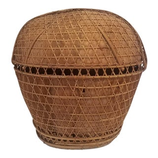 1960s Vintage Handmade Basket From the Philippines For Sale