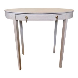 Transitional Farrell Oval Side Table For Sale