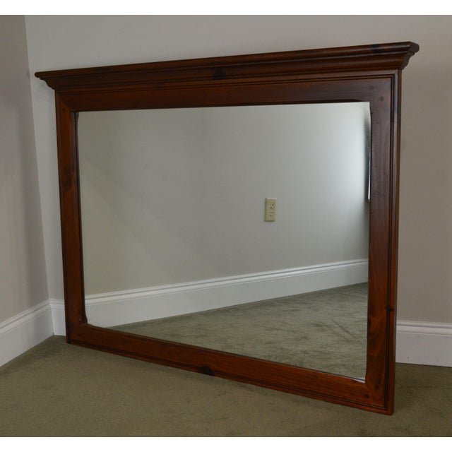 Ethan Allen Country Craftsman Collection Pine Mirror For Sale - Image 12 of 13