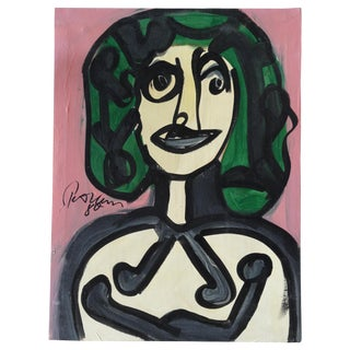 Modern Portrait of a Woman by Keil, Picasso Style For Sale