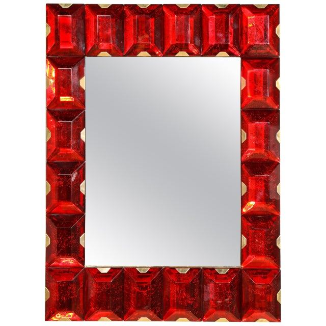 Large Murano Glass Block Mirror For Sale - Image 12 of 12