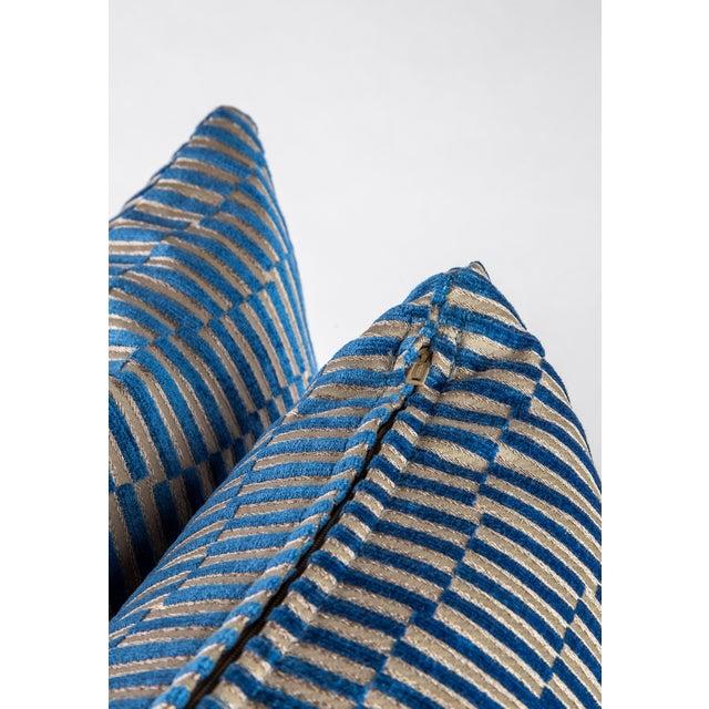 "Manuel Canovas 18""x 18"" Geometric Manuel Canovas Down Pillows For Sale - Image 4 of 8"