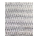 Image of Dartford Hand-Knotted Bamboo/SilkGray/Silver/Multi Rug - 9'x12' For Sale