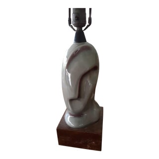 1930s Heifetz Ceramic Lamp, Art Deco, Cubist Style For Sale