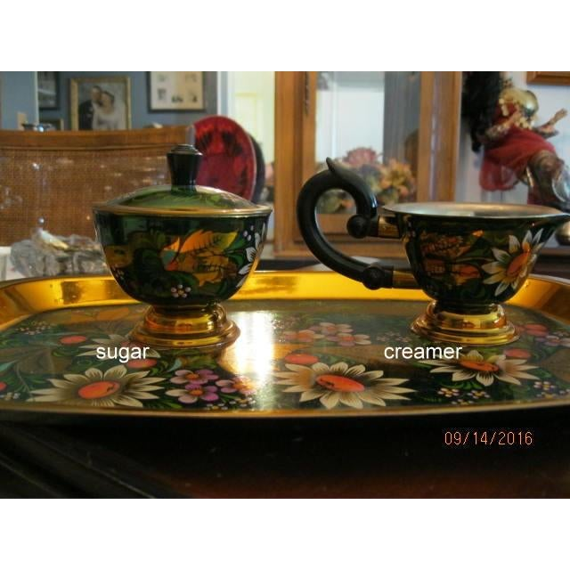 New Hand Painted Russian Vintage Tea and Coffee Set ~ Circa 1960's to 1970's - Image 10 of 11