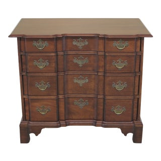 1990s Chippendale Block Front Bench Made Mahogany Chest For Sale