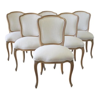Louis XV Style Wooden Dining Chairs - Set of 6