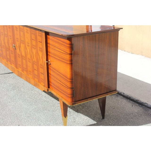 1940s Art Deco Exotic Macassar Ebony Sideboard / Buffet For Sale - Image 10 of 13