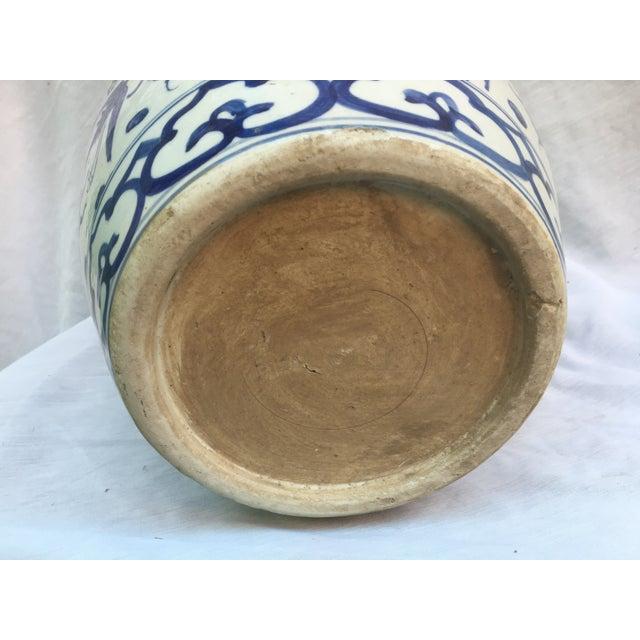Blue & White Porcelain Dragon Altar Urn - Image 9 of 9