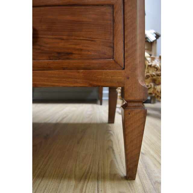 19th Century French Walnut 3-Drawer Commode with Marble Top | Chairish