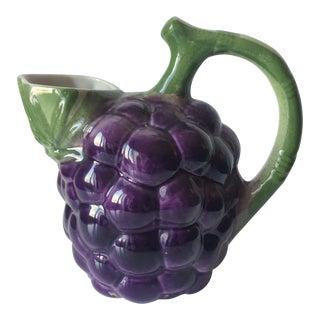 Vintage Italian Majolica Grape Pitcher