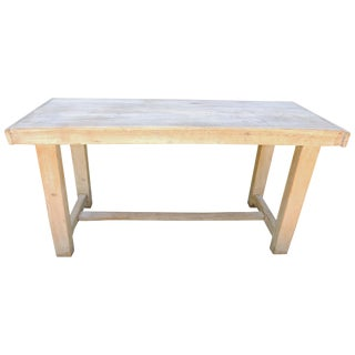 Cerused Slab Table, Circa 1900, France For Sale